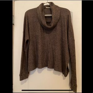 NORDSTROM Lush Brown Cowl Neck Sweater